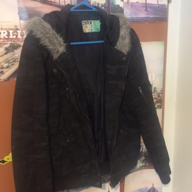 Black Camouflage Jacket