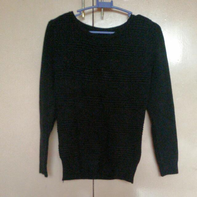 Black Fitted Sweater
