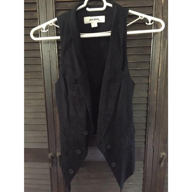 Black Just Jeans Vest
