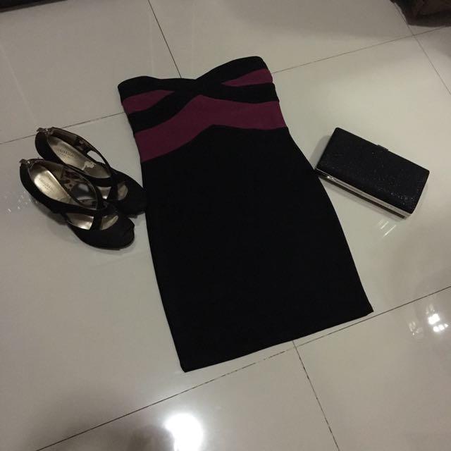 black violet dress