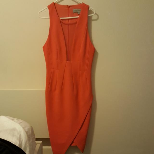 Blessed Are The Meek Orange Dress Size 8