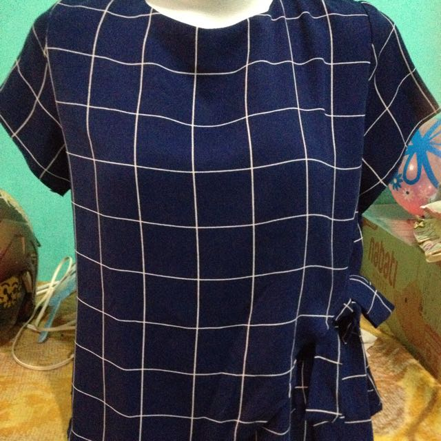 blouse navy kekinian