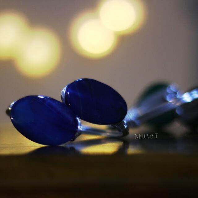 LAST PIECE SALE Blue Stone Gem Bangle