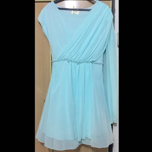 Blue Toga Greek Style Prom Dress Womens Fashion Clothes