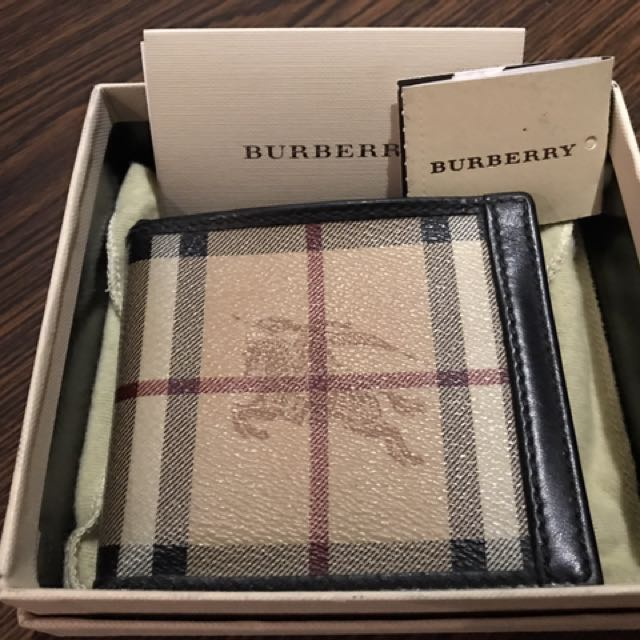 BURBERRY Wallet with Coin Pocket (Original 100%)