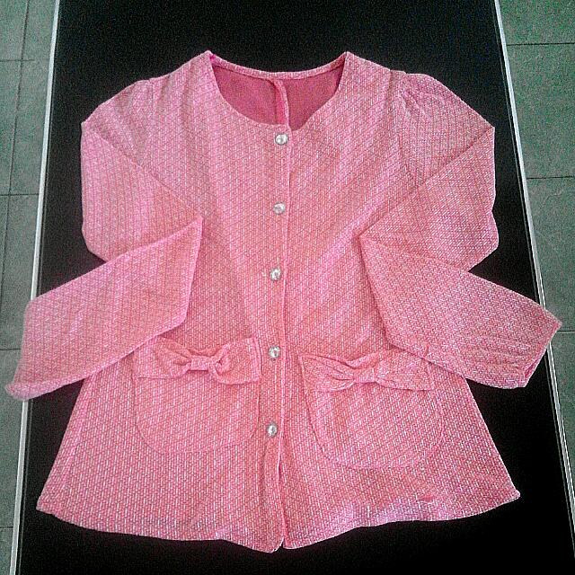 Cardigan Pink Korea Style
