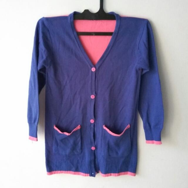 Reprice Cardigan Ungu Pink Size L