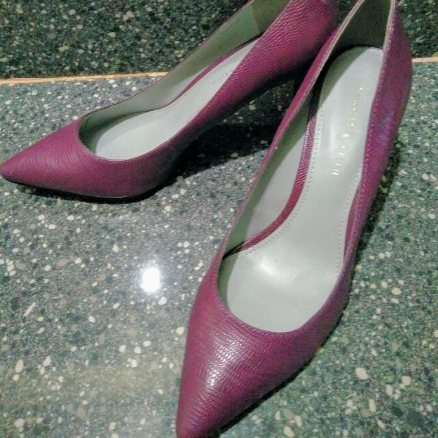 Charles and Keith purple heels