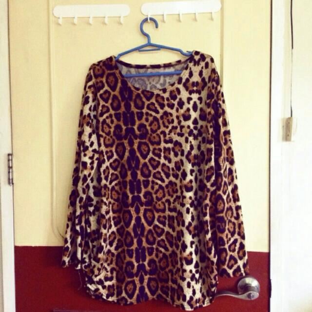 Cheetah Long Sleeve Blouse