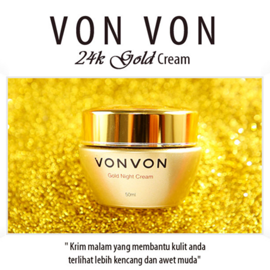 Cream Malam Herbal VONVON 24K GOLD asli LEJEL Home Shopping