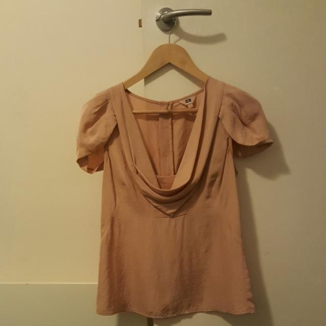 Cue Dusty Pink Blouse Size 8