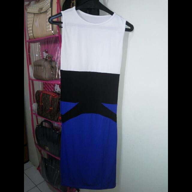 Dress Jersey Blue Elektrik