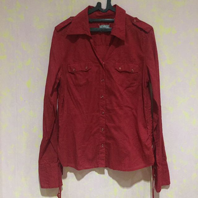 Esprit Casual Red Shirt