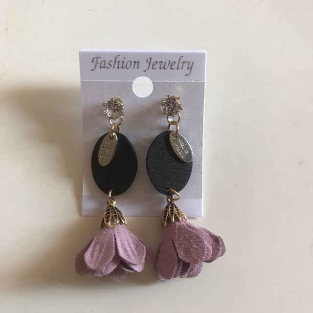 Flower Earring Purple E