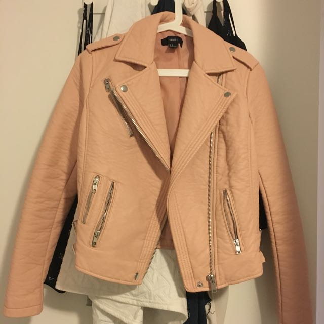 Forever21 Pink Leather Jacket