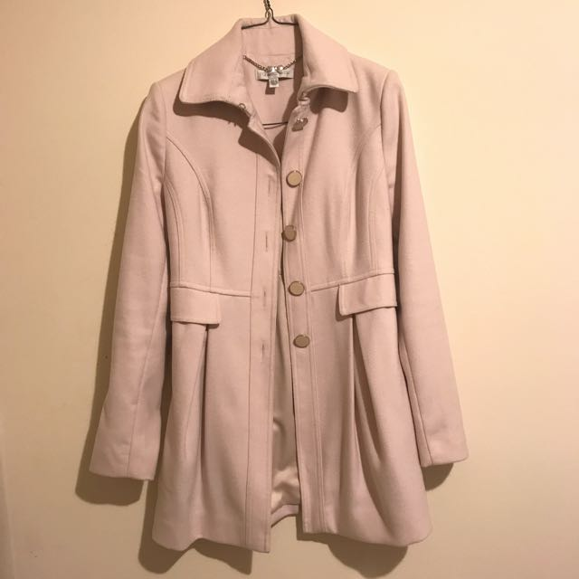 FOREVER NEW Blush Wool Coat Size 6