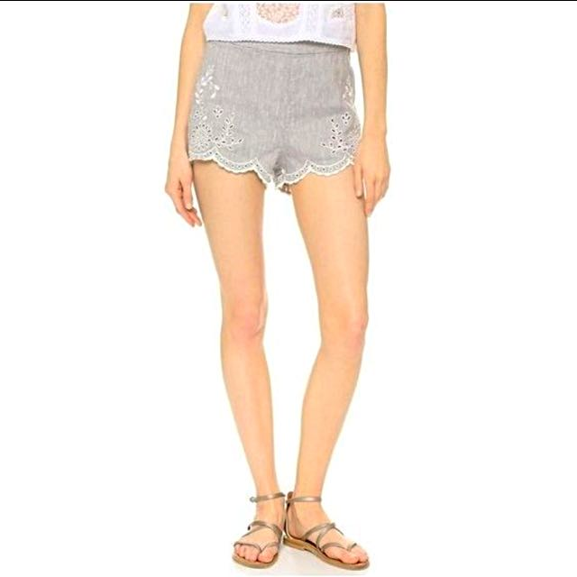 Free People Scallop Shorts