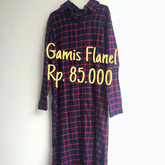 Gamis Flanel Women S Fashion Muslim Fashion On Carousell