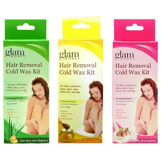 Glam Cold Wax Kit Health Beauty Skin Bath Body On Carousell