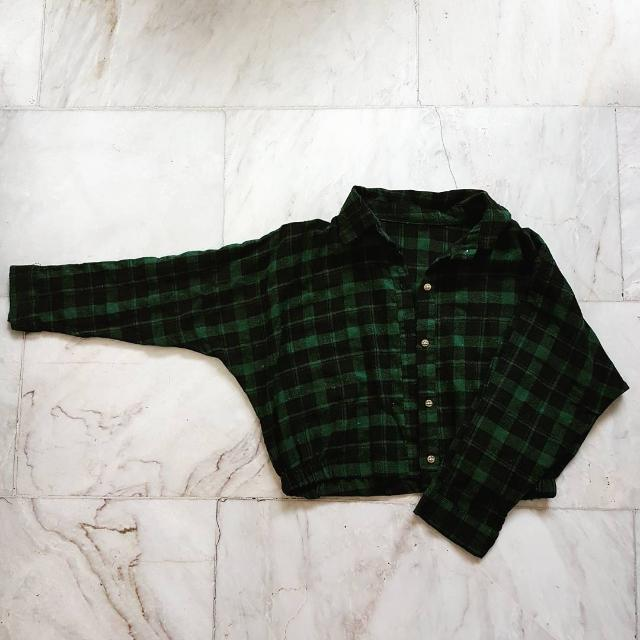 Green Plaid Long Sleeves
