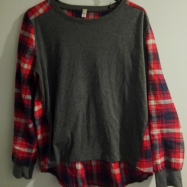 Grey And Plaid Shirt