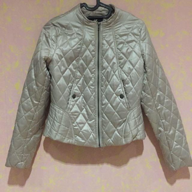 H&M Beige Puffy Jacket