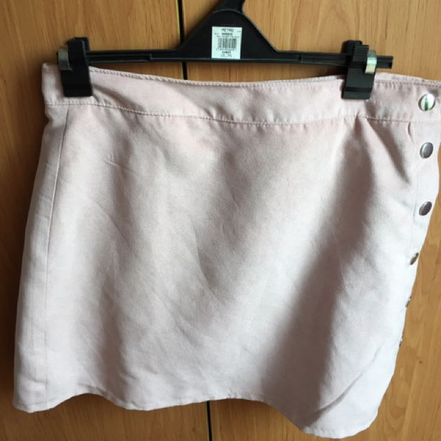 H&M Blush Pink Wrap Skirt