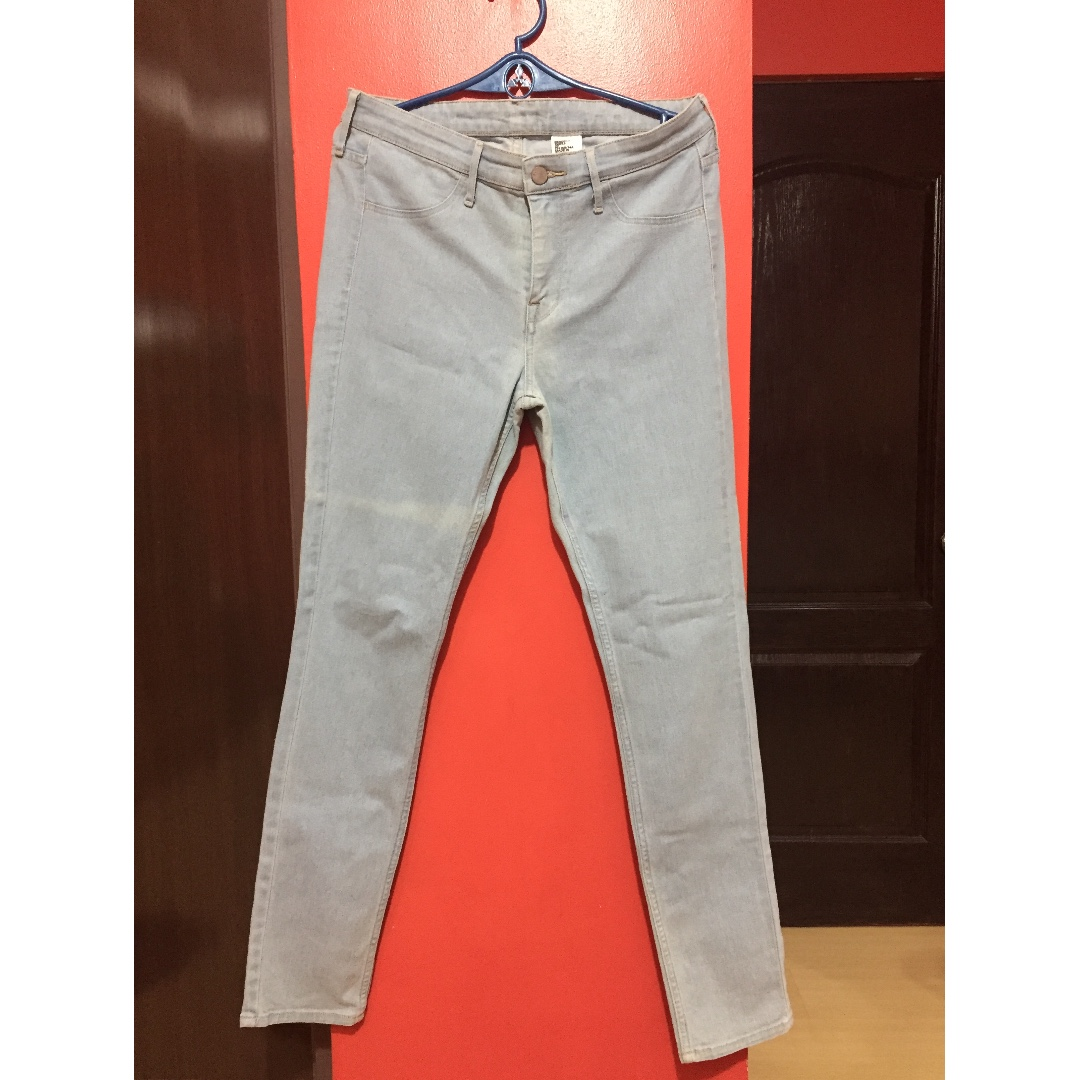 H&M White-washed Pants