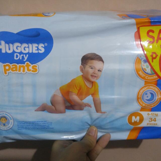 Huggies Diapers Medium  Available 2pcs