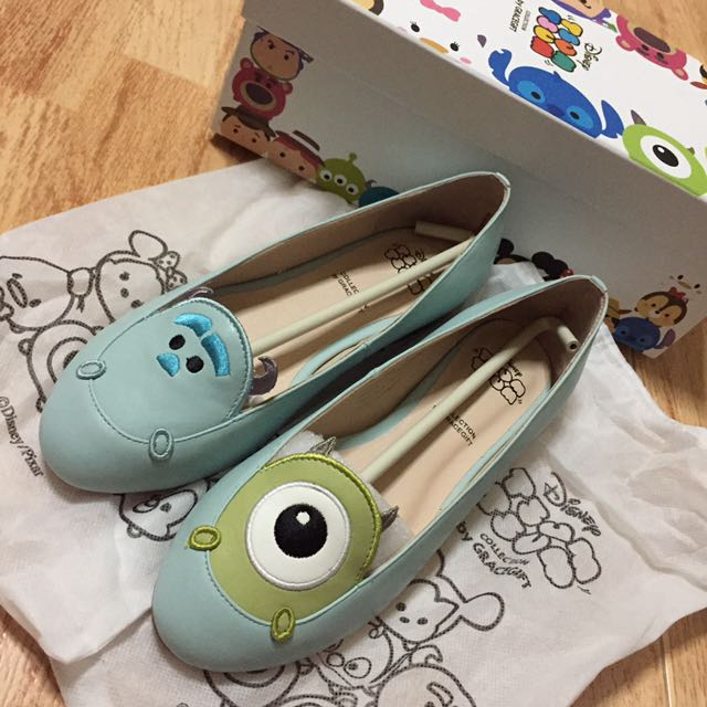 5cd13d9351f1 Instock Disney Tsum Tsum Monster Inc Sulley And Mike Gracegift Flats ...