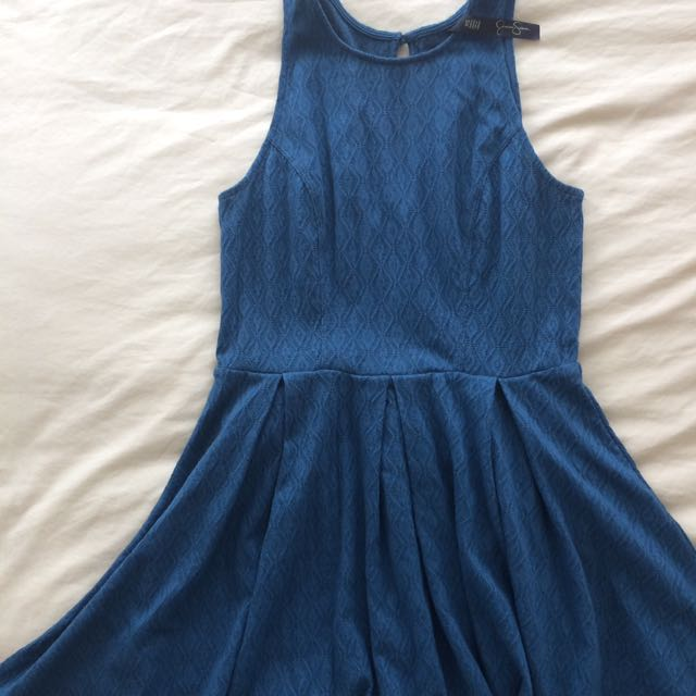 Jessica Simpson Blue Sleeveless Dress