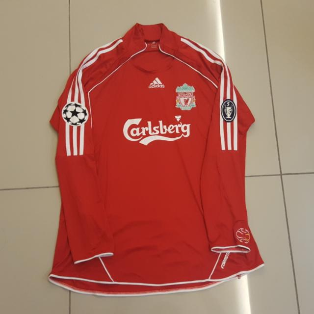 huge selection of 85a68 06e0e Limited Liverpool 06-07 Home Jersey Long Sleeve