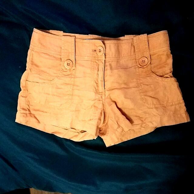 Marciano Orange Jean Shorts