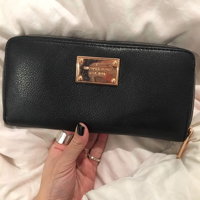 MK Leather Wallet Authentic