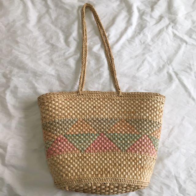 Multi-coloured Woven Bag