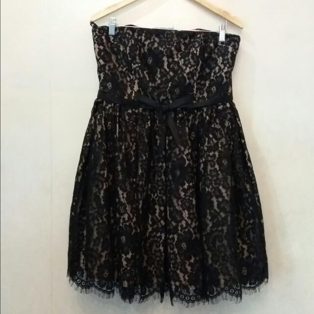 Neiman Marcus Tube Lace Dress
