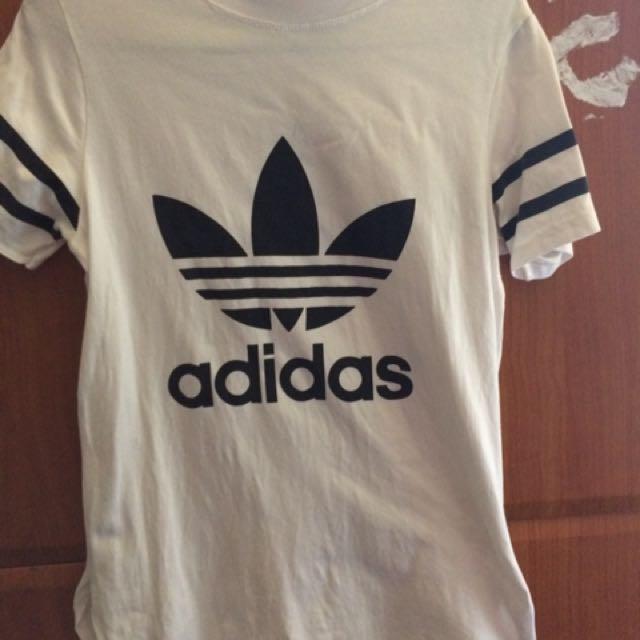 New! Adidas White Long T