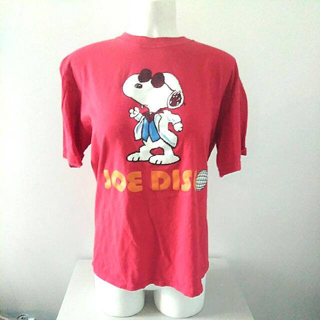 Official Licensed Vintage Snoopy Joe Disco Shirt