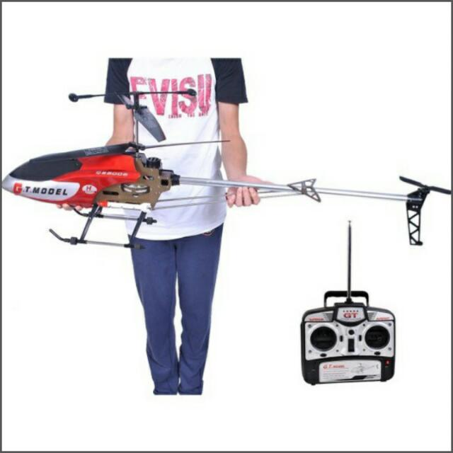 (Po)Ulamore New 53 Inch Extra Large GT QS8006-2 Speed 3 5 Ch RC Helicopter  Builtin Gyro Red