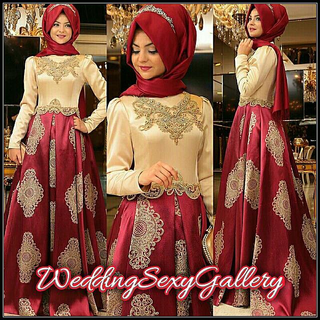 #3🌹▪Pre - Order▪🌹 2017 Dubai Kaftan Appliqued Long Evening Gowns Caftan Abaya In Dubai Long Sleeve Arabic Dress Muslim Evening Dress