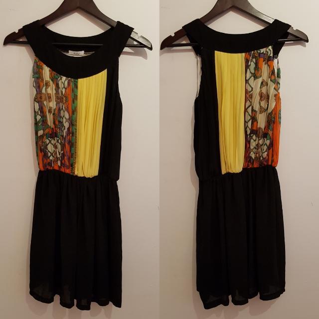 PRELOVED COLOURFUL PRINT HALTER DRESS