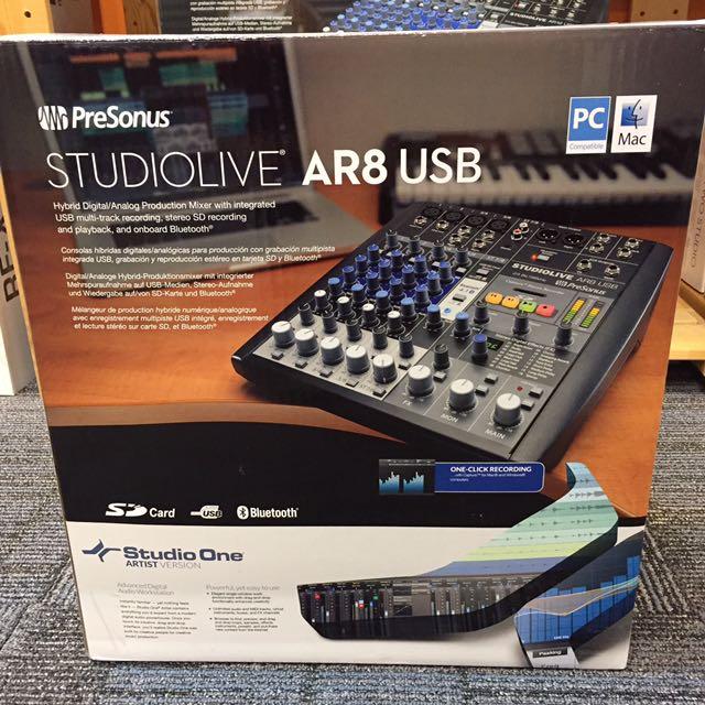 PreSonus Studiolive AR8 USB Hybrid Digital/Analog Mixer