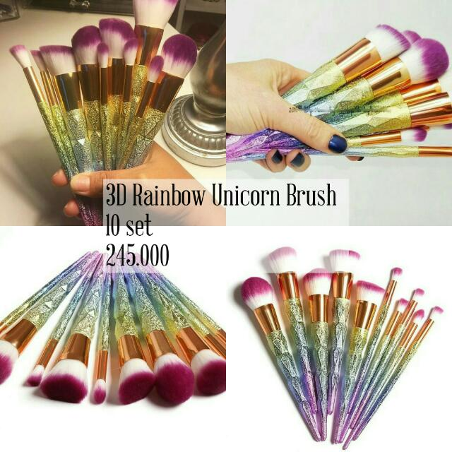 Rainbow Glitter Unicorn Brush