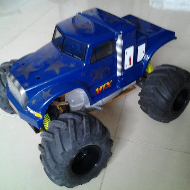 Rc 1/8 MTX Monster truck, 21 Size Nitro Engine, With Engine