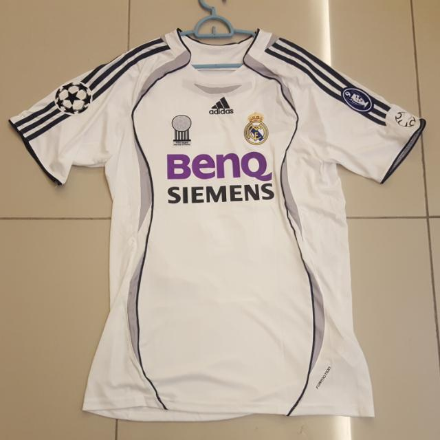 best service 4c0c6 aa65f Real Madrid 06-07 Home Jersey Short Sleeve