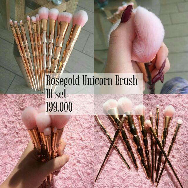 Rosegold Unicorn Brush