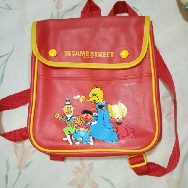 Sesame Street Genuine Leather Backpack