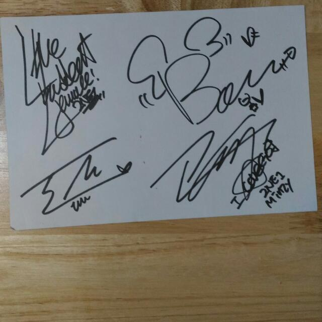 Signed 2NE1 Etude Stationery
