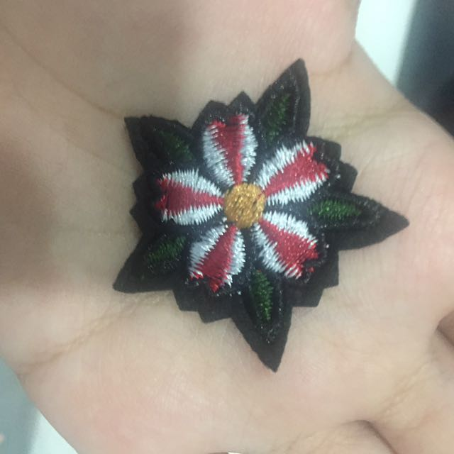 Small Flower Iron On Patch