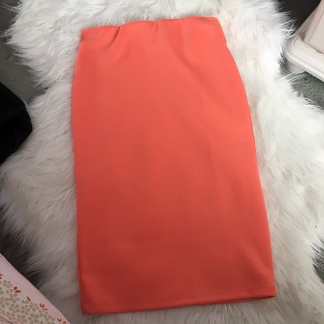Supre Fluro Orange Pencil Skirt